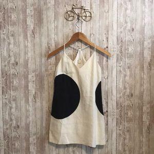 Jcrew outlet black and white polka dot mini dress